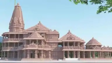 The essence of Rama-Rajya is getting faint in the enchanting architect of temple.